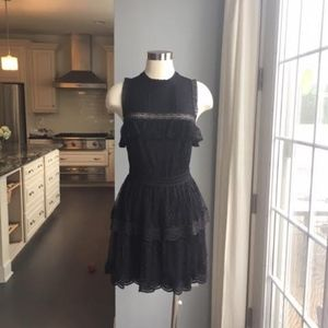 Misa Black Lace Dress
